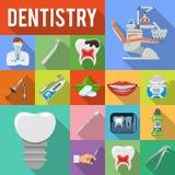 Fastställda symboler för tand- service Arkivfoto