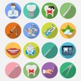 Fastställda symboler för tand- service Arkivbild