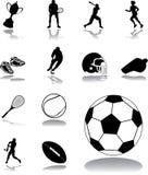 Fastställda symboler - 162. Sport stock illustrationer
