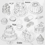 Fastställda tårtor vektor illustrationer