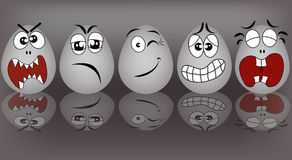 Fastställda underhållande ägg Arkivfoto