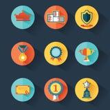 Fastställda utmärkelsesymboler Arkivfoto