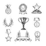 Fastställda utmärkelsesymboler Fotografering för Bildbyråer