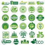 BIO och ECO-etikett royaltyfri illustrationer