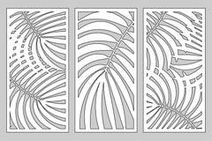 Fastställt dekorativt kort för att klippa royaltyfri illustrationer