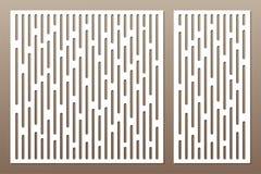Fastställt dekorativt kort för att klippa abstrakt begrepp lines modellen Laser c vektor illustrationer
