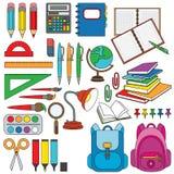 Fastställt färgrikt för brevpapper stock illustrationer