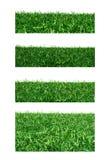 Fastställt gräs på vit bakgrund Sparat med den snabba banan arkivbilder