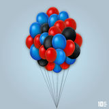 Fastställt konstobjekt för ballong Arkivfoton