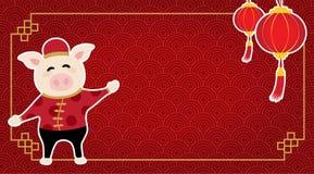 Fastställt kort för tecknad film för vektordiagram om glad jul och lyckligt nytt år vektor illustrationer