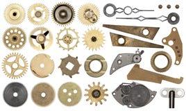 Fastställt kugghjul, kugghjul som isoleras Royaltyfri Bild