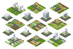 Fastställt stads- område stock illustrationer