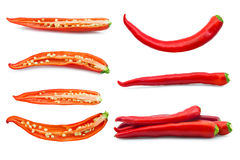 Fastställd peppar som isoleras på vit Royaltyfria Bilder