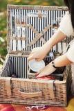 Fastställd picknick Royaltyfria Foton