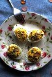 faszerowane jajka Obraz Royalty Free