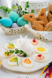 faszerowane jajka Obrazy Stock