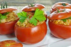 faszerowane pomidory Zdjęcia Stock