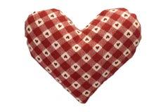 faszerujący gingham serce Zdjęcie Stock
