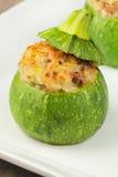 faszerujący zucchini Fotografia Royalty Free
