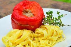 Faszerujący czerwonych pieprzy tri colori Zdjęcia Stock