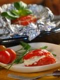 faszerujący pomidory obraz royalty free