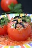 faszerujący pomidory Obrazy Royalty Free