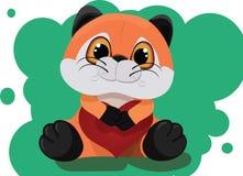 Faszerujący zabawkarski Fox z sercem Obraz Stock