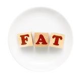 FAT标志 免版税库存照片