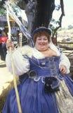 Fat Actress in Costume at Renaissance Faire, Agoura, California Stock Photos