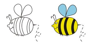 Fat bee. Drawn  with a  graphics tablet Stock Photos