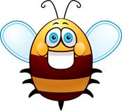 Fat Bee. An illustration of an overweight bumblebee smiling Stock Photo
