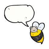 fat bee cartoon Royalty Free Stock Images