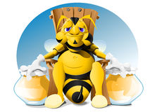 Fat bee Stock Photo