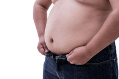 Fat belly Royalty Free Stock Images