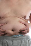 Fat belly of man Royalty Free Stock Images