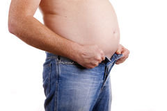 Fat belly Royalty Free Stock Image