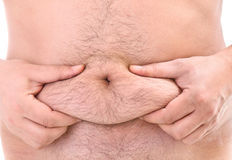 Fat belly Royalty Free Stock Photography
