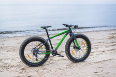 Fat bike on beach Stock Photo