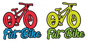 Fat bike fluo vector design sticker illustration royalty free stock photography