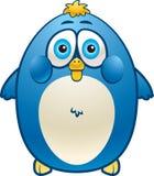 Fat Bird. An overweight blue bird smiling Stock Images
