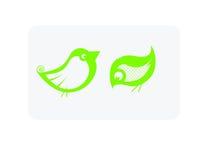Fat Birds. Hand drawn illustration of 2 cute birds Stock Photography