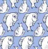 Fat blue fish pattern Stock Photos