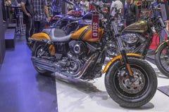 FAT BOB Motorcycle de Harley - de Davidson DYNA Foto de archivo libre de regalías