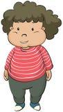 Fat boy. Illustration of fat boy on a white background Stock Image