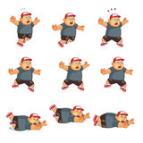 Fat Boy Animation Sprite. Cartoon Illustration of Fat Boy Animation Sprite for game Stock Images