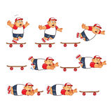 Fat Boy Skater Animation Sprite Stock Photo
