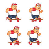 Fat Boy Skater Animation Sprite Royalty Free Stock Photography