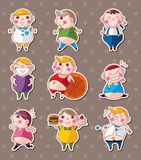 Fat boy stickers Stock Image