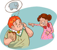 Fat boy. A vector illustration of fat boy Stock Photos