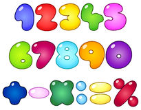 Fat bubble numbers Stock Image